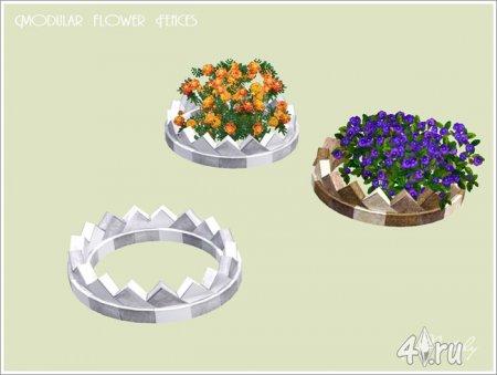 Набор из 7 модульных клумб для цветов от Nataly для Симс 3 в формате sims3pack