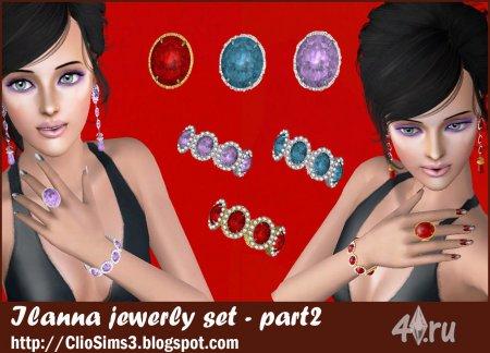 Сет украшений (роскошные перстень, серьги и браслет) от Clio для Симс 3 в формате sims3pack