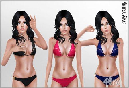 Раздельный купальник-бикини от Irida для Симс 3 в формате sims3pack