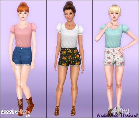 Одежда для взрослых и подростков от Anubis для Симс 3 в формате sims3pack и package
