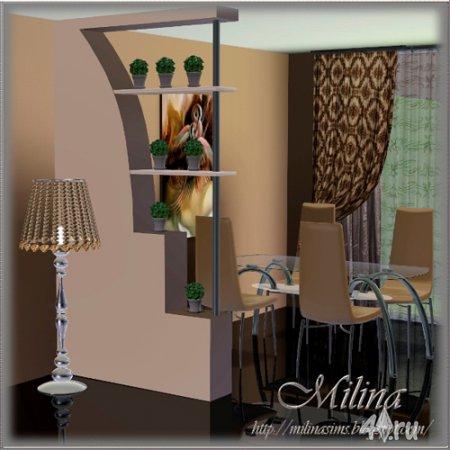 Декоративные перегородки от Milina для Симс 3 в формате sims3pack