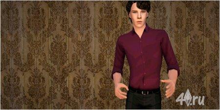 Шерлок Холмс (Sherlock Holmes) из телесериала от Tea Leaf для Sims 2