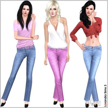 Новые джинсы от Lorandia для Симс 3 в формате sims3pack
