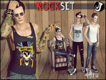 Мужской набор рокера от Jocker для Симс 3 в формате package