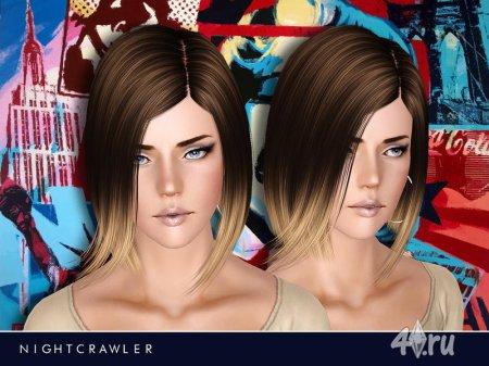 Женская прическа от Nightcrawler для Симс 3 в формате sims3pack