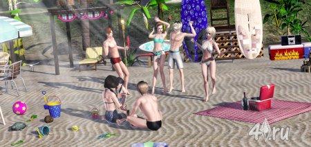Пляжная вечеринка от lyu3a для Симс 3