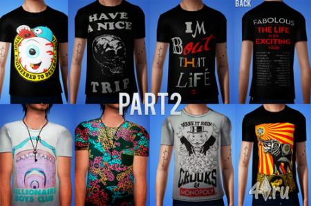 Мужские футболки от Sumieisimblr для Симс 3