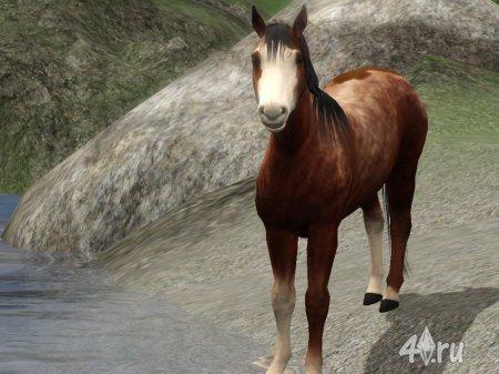"""Лошадь """"Феникс"""" от Lag для Cимс 3 в формате sims3pack"""