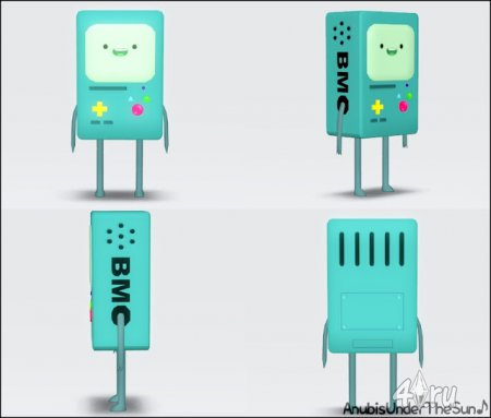 Робот BMO из Adventure Time декор и видео игра от Anubis для Симс 3 в формате sims3pack и package
