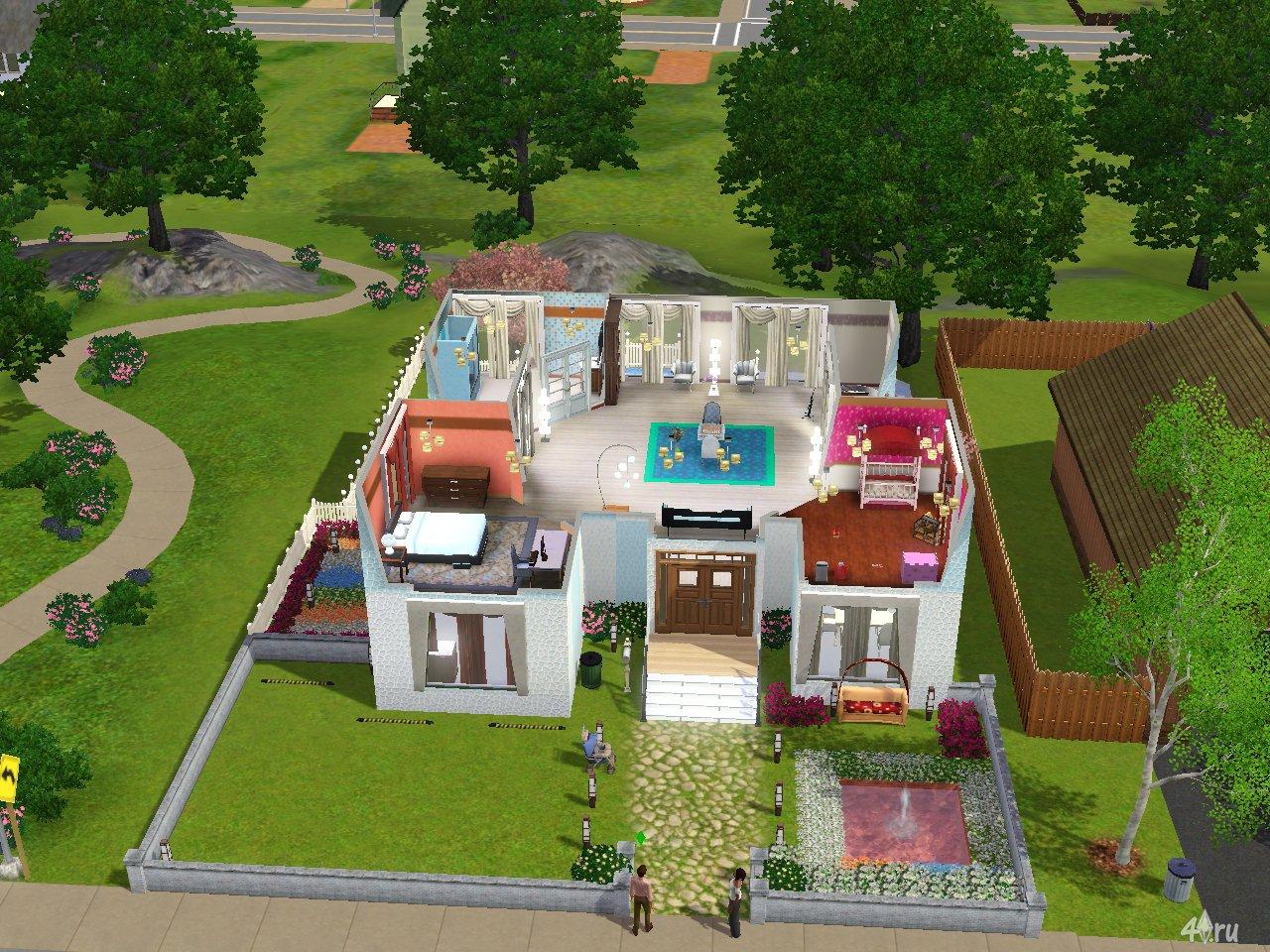 Схема домов в симс 3 фото внутри и снаружи