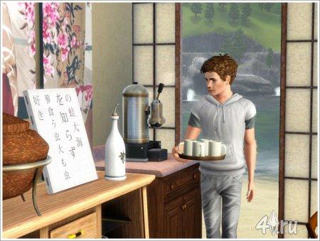 "Кафе-чайная ""Ветка Сакуры"" от Severinka для Симс 3 в формате sims3pack"