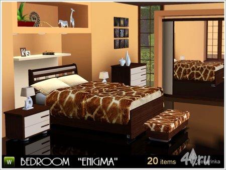 "Спальня ""Энигма"" от Severinka для The Sims 3 в формате sims3pack"