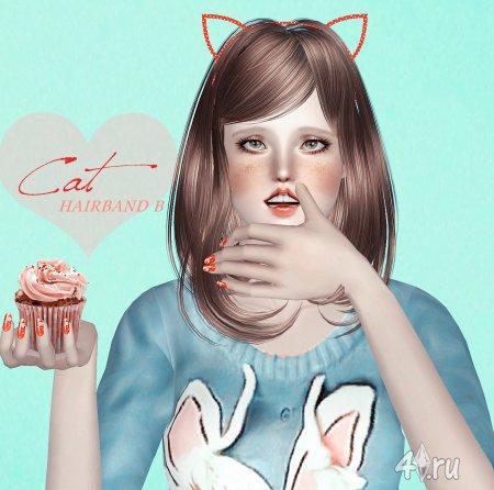 """Ободок """"Кошечка"""" от S-Club для Симс 3 в формате sims3pack и package"""