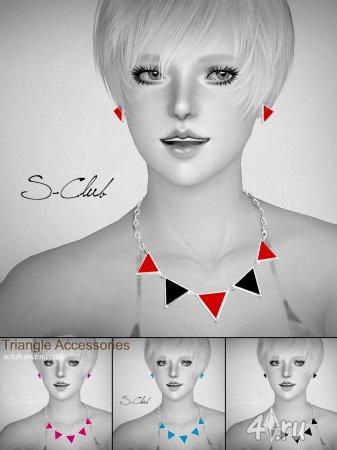 "Ожерелье ""Треугольник"" от S-Club для The Sims 3 в формате sims3pack и package"