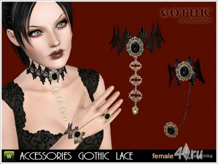 Accessories gothic Lace set by Severinka ��� ���� 3