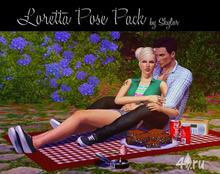 Набор поз (Pose Pack) от Loretta  для Симс 3 в формате package