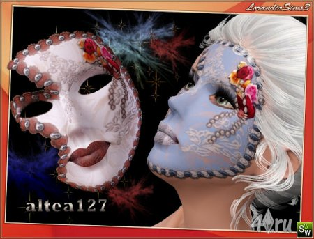 Карнавальные венецианские маски для Симс 3 от Lorandia в формате sims3pack
