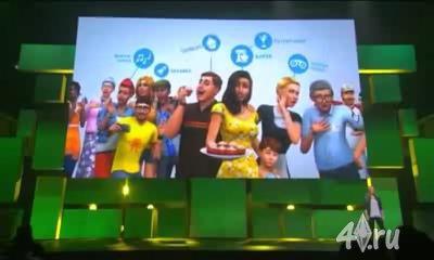 Видеопрезентация The Sims 4 на пресс-конференции E3 2014