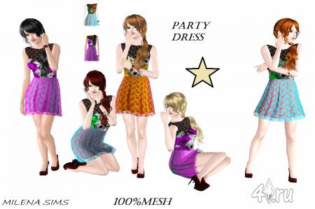 Платье для вечеринок (Sims 3) в формате sims3pack
