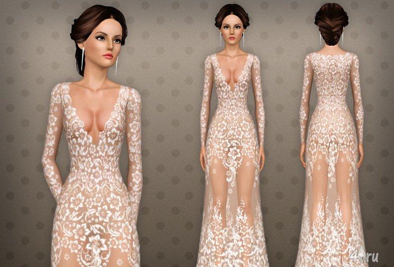 Симс 3 пак платье симс 4