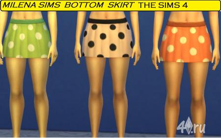 Юбка в горошек от Milena sims для Симс 4