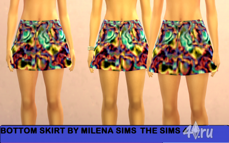 ���� Bottom skirt �� Milena sims ��� ���� 4