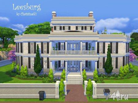 Огромный особняк Leesburg от Christina51 для Симс 4