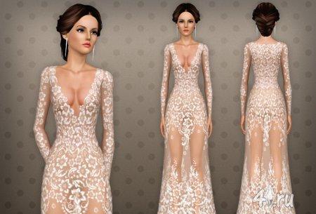 Очень красивое платье 26 от Beo для Симс 3 в формате sims3pack