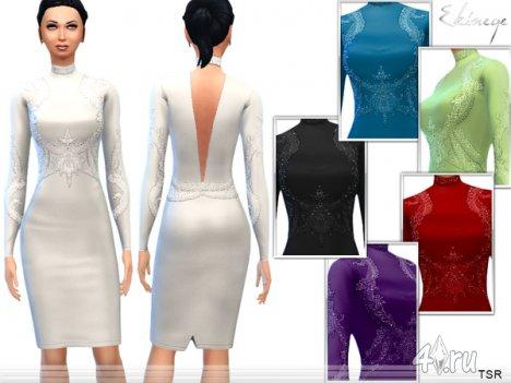 Вечернее платье от Ekinege для Симс 4