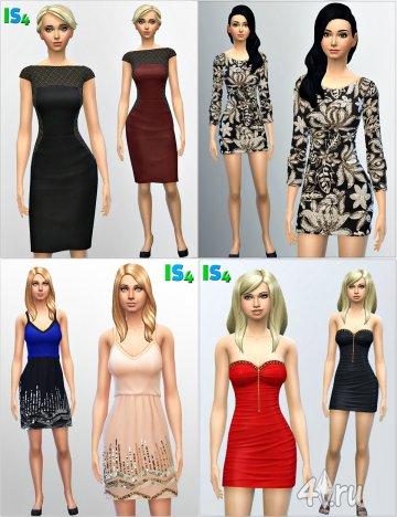 Набор платьев от Irida для игры Симс 4