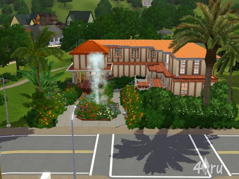 ��� � ������ ����� (House in warm colors) � ������� sims3pack �� Katrin123 ��� ��� 3