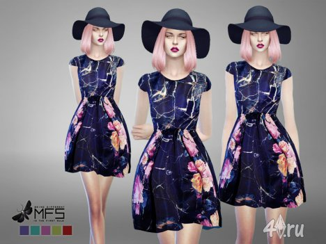 Платье Тиффани (Tiffanie Dress) от MissFortune для Симс 4 в формате package