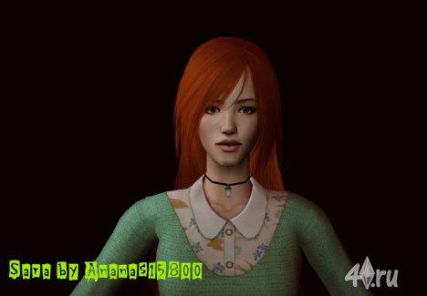 (Авторская работа) Симка Cара от Ananas15800 для Sims 2