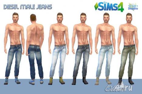 Мужские джинсы от Olesmit  для The Sims 4