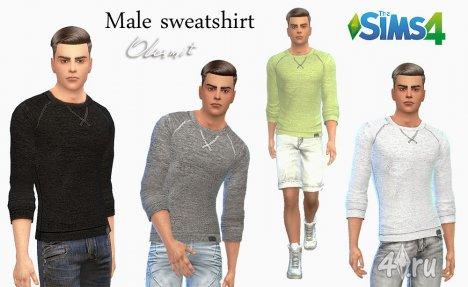 Мужской свитер от Olesmit для The Sims 4