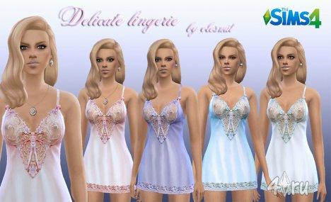 Женское белье от Olesmit для The Sims 4