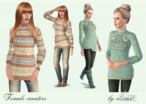 Женский свитер от Olesmit для The Sims 3