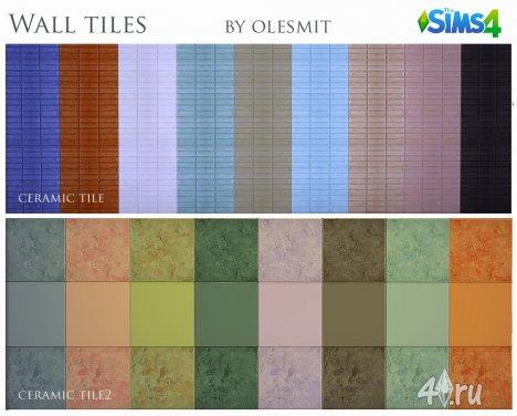 Плитка для стен от Olesmit для The Sims 4