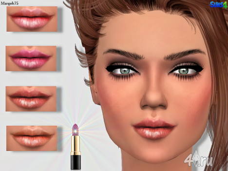 Блеск для губ от Margeh75 для The Sims 4