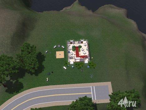 Милый свадебный участок для Симс 3
