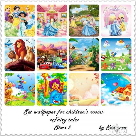 Набор фотообои Fairy tale от Sawyera для Симс 2