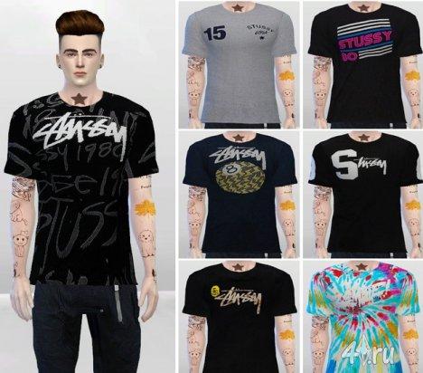 Мужские футболки в урбанистическом стиле от McLayneSims для Симс 4 в формате package