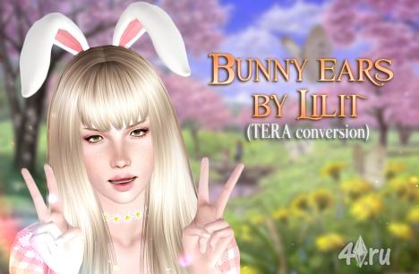 Кроличьи ушки от Lilit для игры Симс 3