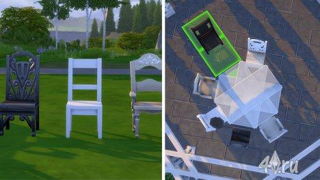 Дворик в игре The Sims 4