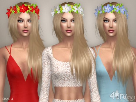 Венок из цветов на голову для Симс 4 от BEO creations в формате package