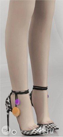 Летные босоножки на каблуке от MJ95 для Симс 4 в формате package