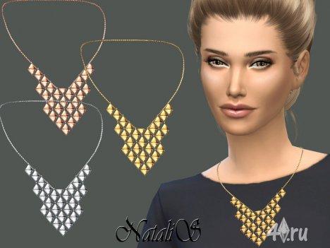 Треугольное ожерелье для Симс 4 от NataliS в формате package
