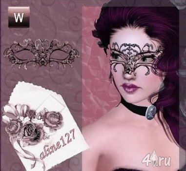 Бриллиантовая маска для Симс 3 в формате sims3pack