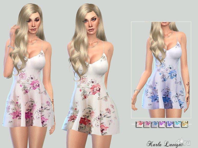 Симс 4 платье летнее