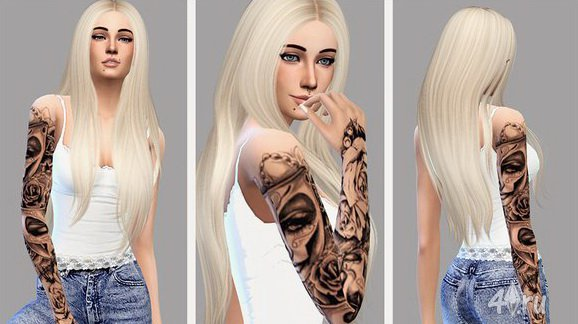 Как сделать татуировку для sims 3